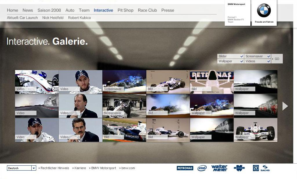 Feinkonzeot BMW Sauber Galerie