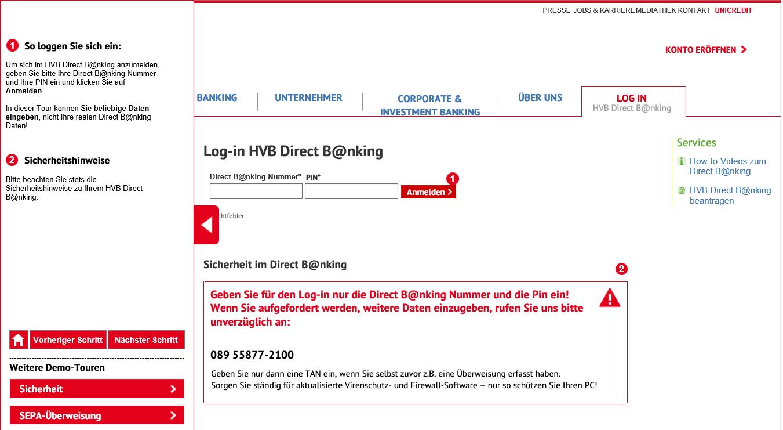 Wireframe HVB Login